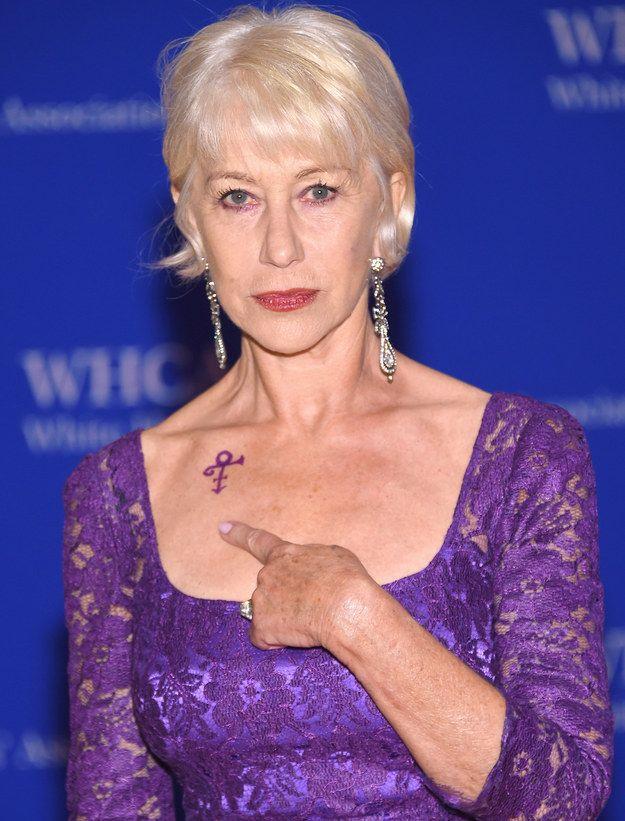 Helen Mirren Wore Prince Body Art To White House Correspondents Dinner