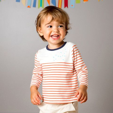 T-shirt with red stripes – ukookoo