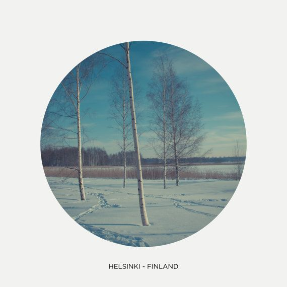 "Winter times in Helsinki, Circle picture, Finland photography, Scandinavian landscape, Nordic art print, Scandinavia, 8"" x 8"", 20 cm x 20 cm"
