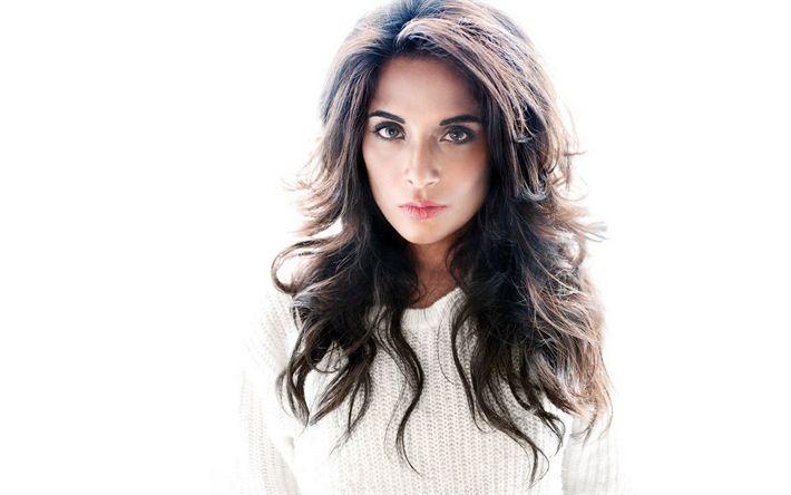 Download imagens Tricha Chadha, 4K, A atriz indiana, Bollywood, Moda indiana modelo, retrato, lindos olhos, morena