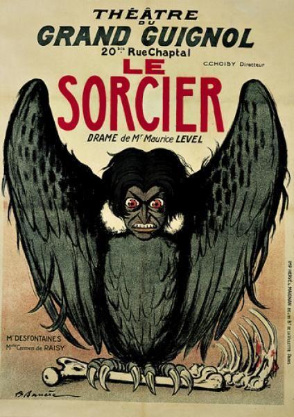 Le Sorcier (Grand Guignol) by Adrien Barrere (c.1900, Paris)