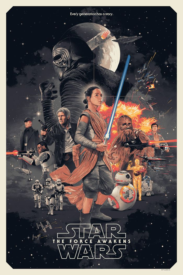 Star Wars: The Force Awakens by Gabz - Home of the Alternative Movie Poster -AMP-