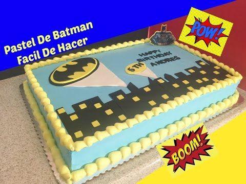 Cómo Decorar Un Pastel De Batman Fácil - YouTube