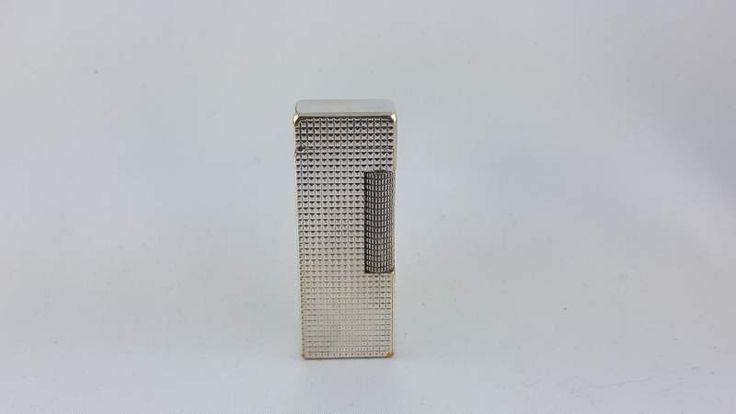 Pregevole Dunhill accendino/lighter anni 70 laminato argento
