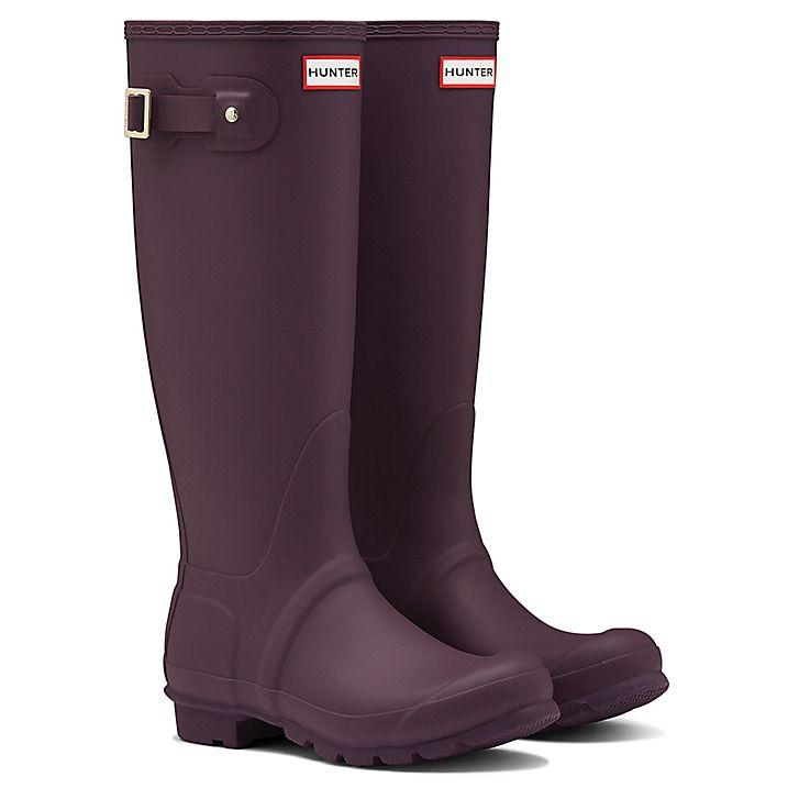 Buy Hunter Original Tall Matte Wellington Boots, Purple, 5 Online at johnlewis.com