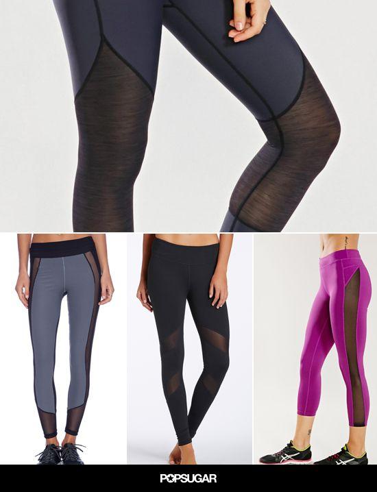 Mesh leggings= the latest trend in workout wear.