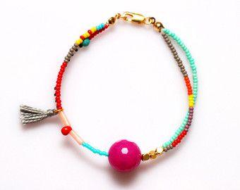 Migliore amico perline braccialetto bracciale braccialetto spiaggia stratificazione Bracciale rosa braccialetto di giada