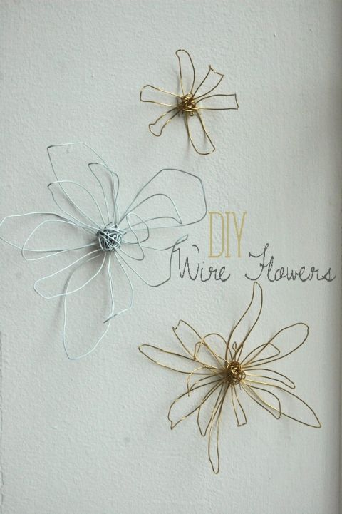 diy wire flowers