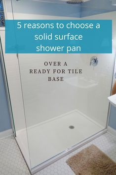 Are you debating between a solid surface and a ready for tile shower pan? This article will help you figure out which is best for you. | Innovate Building Solutions #customshower #shower #bath #bathroom