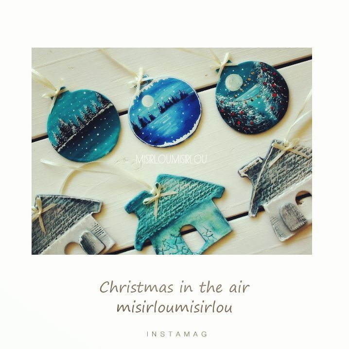 #christmasdecorations #christmasornament #christmastree #christmaseve  #christmascharms #mixedmediachristmas #clayornaments