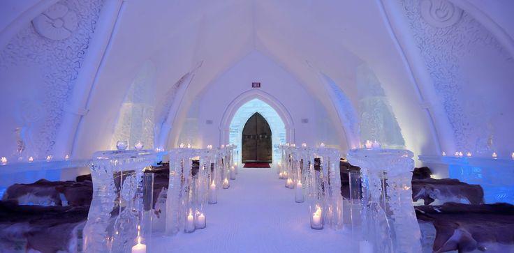 L'Hôtel de Glace au Québec en hiver
