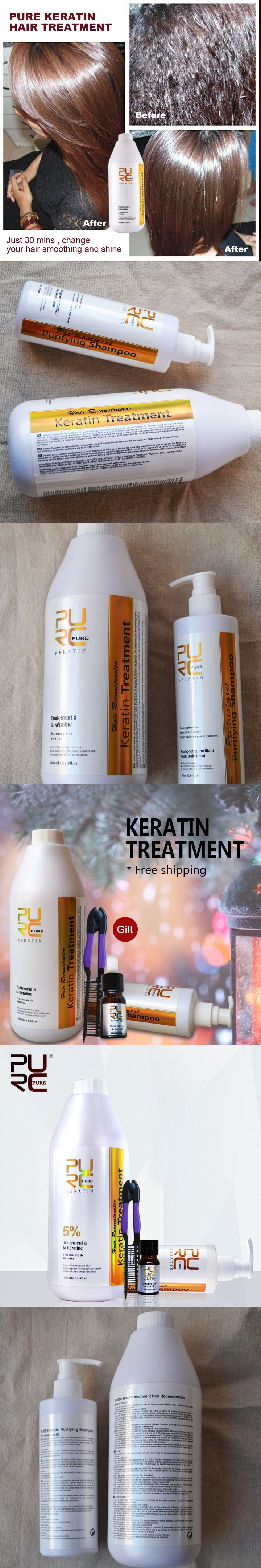 Brazilian keratin hair treatment formalin 5% 1000ml  hair straightening and purifying shampoo  gifts free shipping