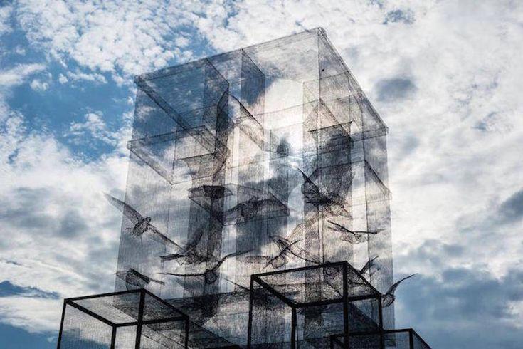 Impressive Wire Mesh Installation – Fubiz Media