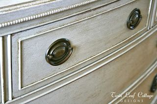 Vintage Dresser Makeover - Homemade Chalk Painting Tips and how to make chalk paint yourself, I will have to try this on an old piece of furniture from the thrift store, I will fill up my attic with them for storage and trials, cannot wait to find the first pieces. EdithSellsHomes@gmail.com