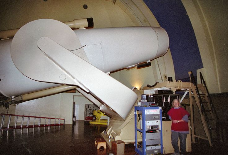 The Samuel Oschin telescope is a 48-inch-aperture Schmidt camera at the Palomar Observatory in northern San Diego County, California. It consists of a 49.75-inch Schmidt corrector plate and a 72-inch mirror. The instrument is strictly a camera; there is no provision for an eyepiece to look through it. It originally used 10- and 14-inch glass photographic plates. Since the focal plane is curved, these plates had to be preformed in a special jig before being loaded into the camera.