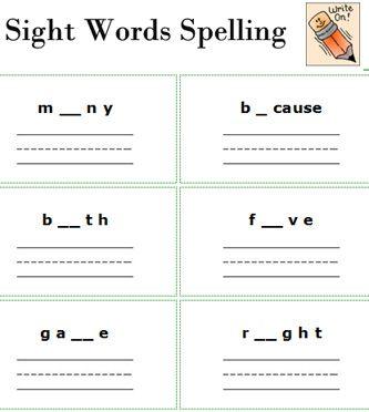 free printable spelling worksheets sight words worksheets free printable 2nd grade english. Black Bedroom Furniture Sets. Home Design Ideas