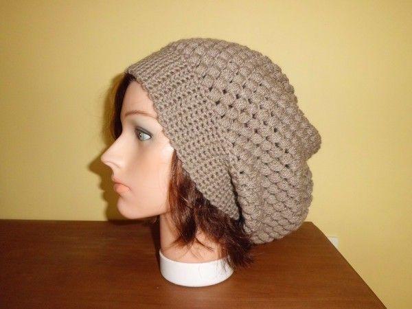 Mes bonnets réalisés en suivant un pas à pas en images !   crochet   Bonnet,  Tricot et Bonnet tombant d2f7b93ce67