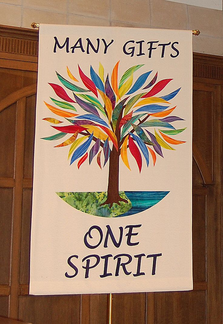 By the banner team at Wildwood Presbyterian Church, Grayslake, IL, created for a themed time, when the pastors where on sabbatical.  It is used regularly for ordinary time.