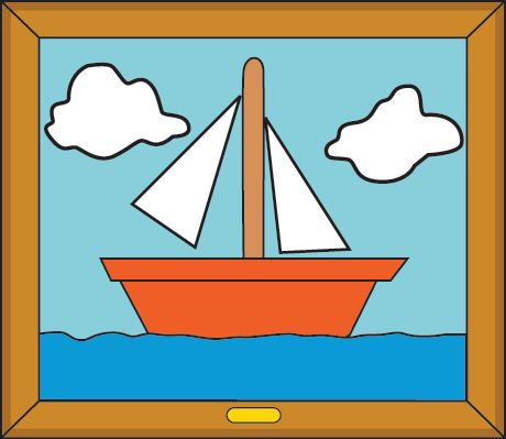 Simpsons sail boat painting for the home pinterest for Simpsons living room picture
