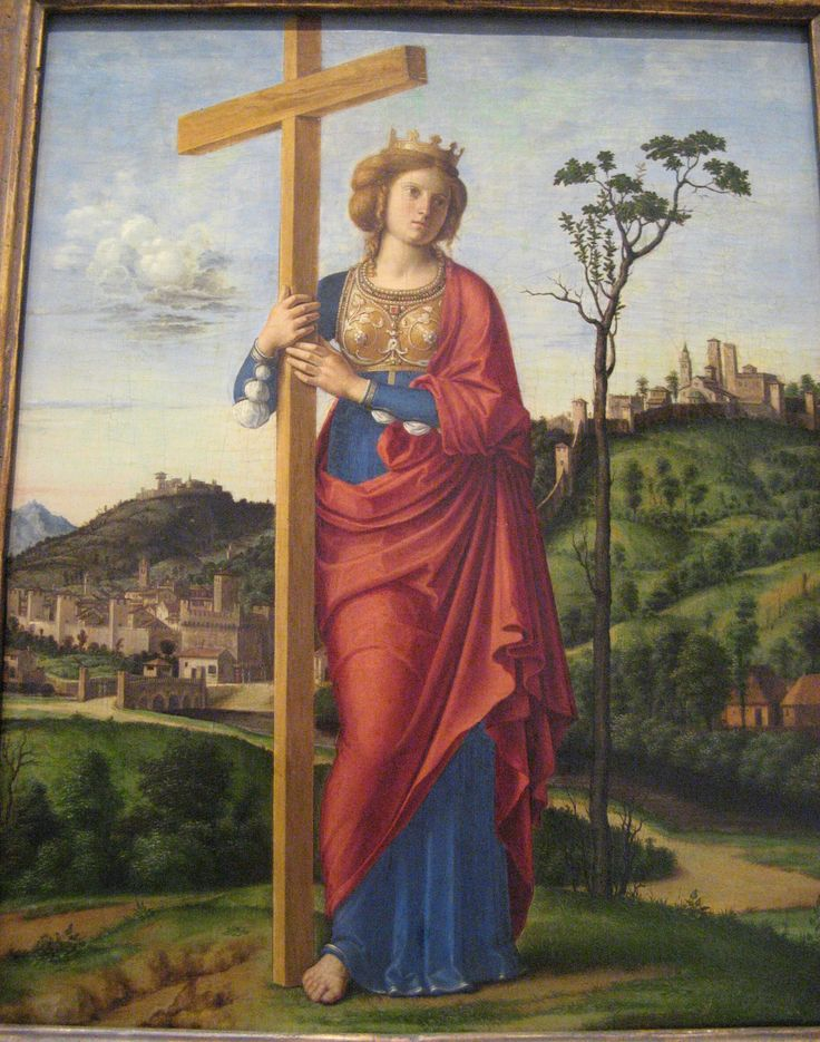 Cima di Conegliano, St. Helen, National Gallery of Art, Washington, DC.  The figure of St. Helen in this lovely small panel resembles the figure of St. Catherine in Cima's altarpiece from Conegliano.  The altarpiece can be seen on this board.