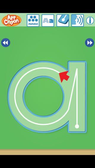 App Crayon er gratis. Her lærer man skrivevejen på bogstaverne gratis. Appen er amerikansk, så det er en engelsk stemme, der er tilknyttet, men man behøver ikke bruge denne. Så kan man øve skrivevejen med de andre bogsstaverm mangler æ,ø og å.