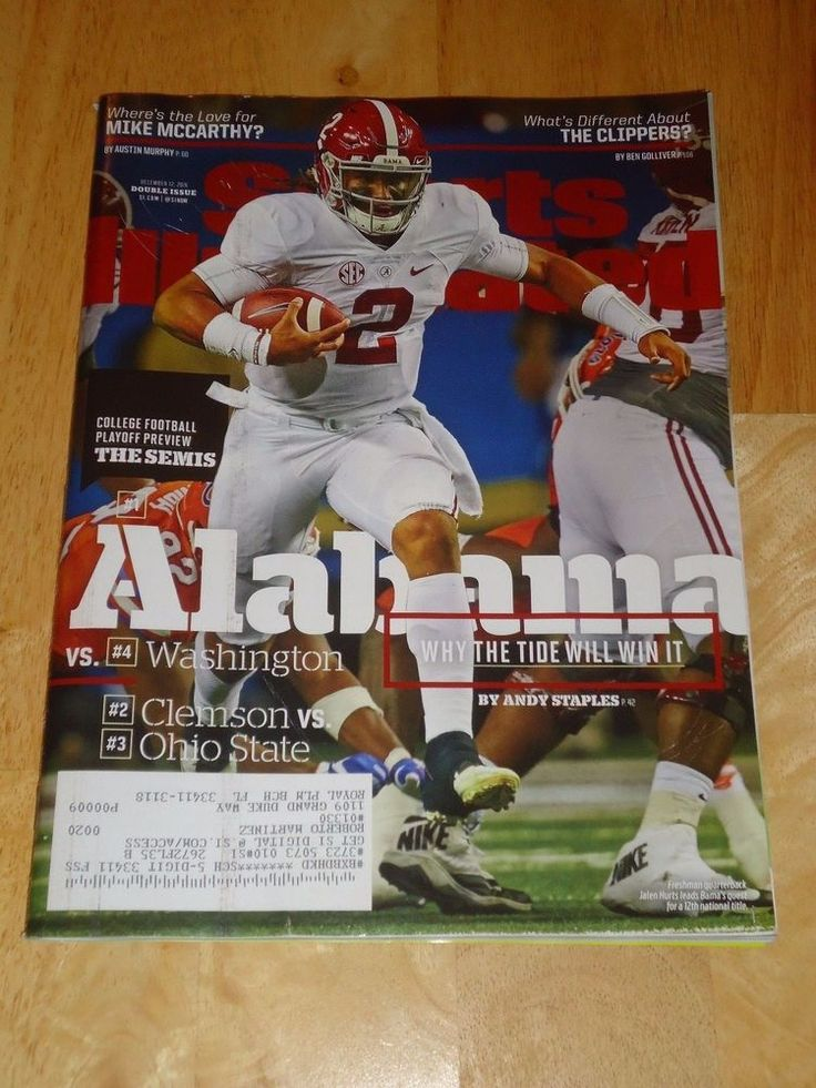 SPORTS ILLUSTRATED Magazine COLLEGE FOOTBALL PLAYOFFS PREVIEW 2016 Double Issue