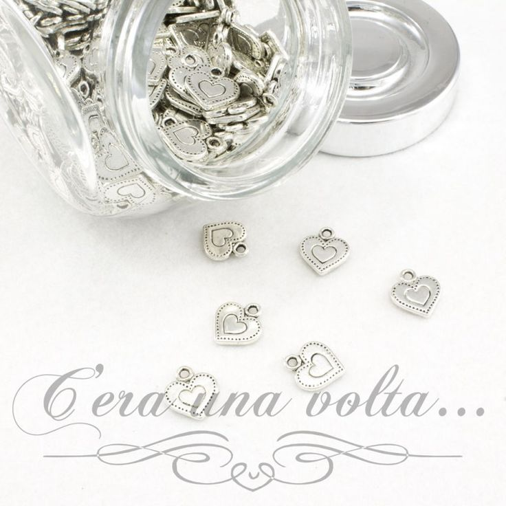 Merceriaceraunavolta.it | Charms cuore puntinato