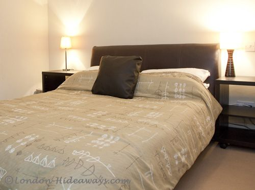Double bed in master bedroom
