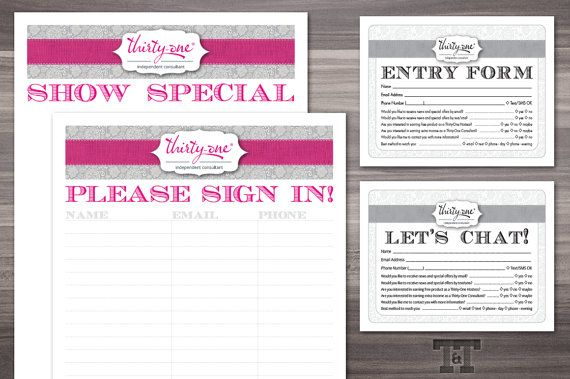Thirty-one Party Ultimate Printable Bundle PDF by TwilightAndTwine