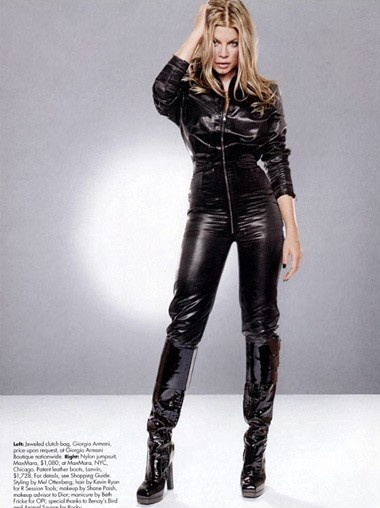 Black Leather Catsuit Worn By Fergie Buy Your Catsuit For