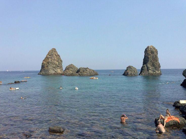Ciclope Island. Between Aci Castello ans Aci Trezza near of Catania - Sicily
