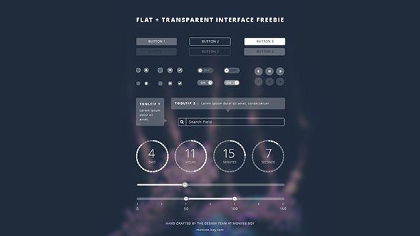 Flat-Transparent UI Kit (free) on Behance