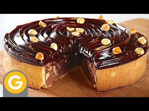 Sucré Salé - Tarta brownie de chocolate - Tarta flan de chocolate - YouTube