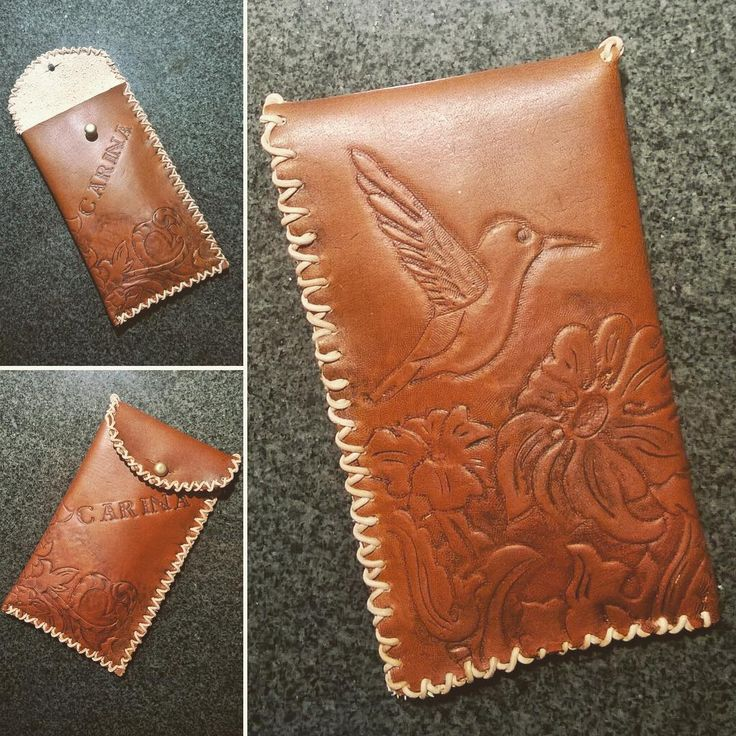 Made a leather container for a co-worker who asked me to fix a necklace for her…