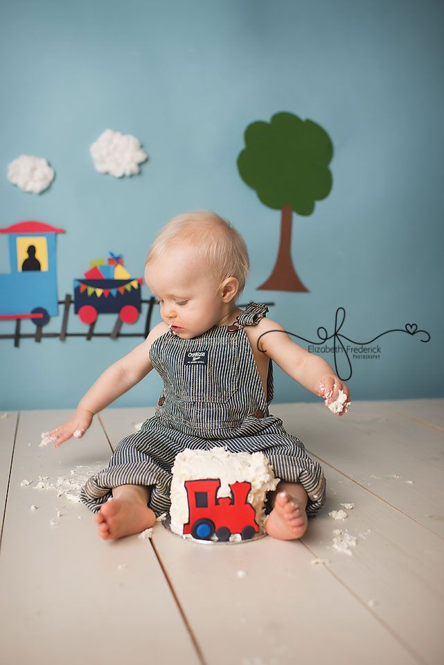 Train themed smash cake photography session ct smash cake photographer ct first birthday photographer