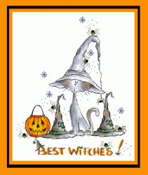 Best Witches Card - Stamps by Judith