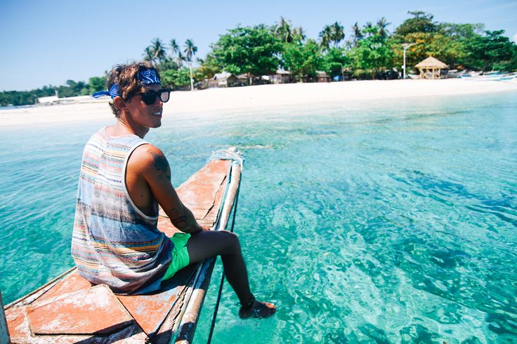 Exploring the powder-white sand and crystal-clear blues of the secluded beaches in Camotes Islands, Philippines. #Asia #Philippines #beaches