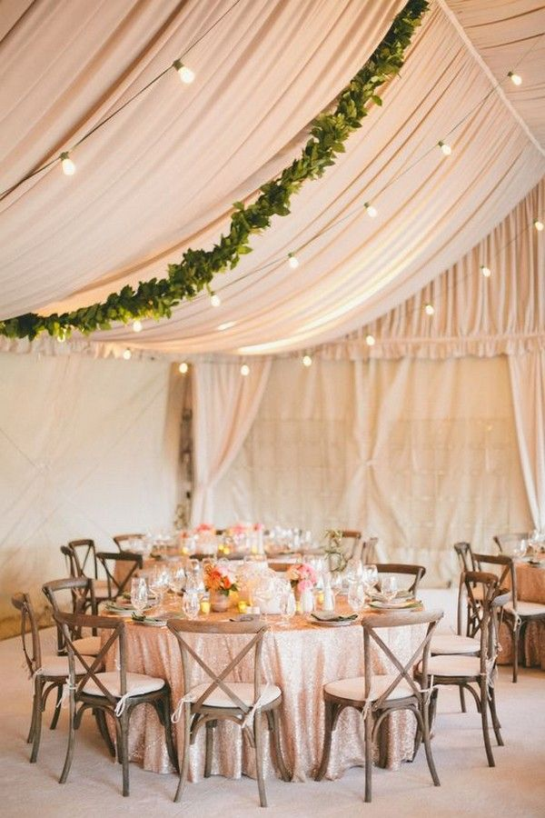 blush pink and green wedding tent decor ideas / http://www.deerpearlflowers.com/wedding-tent-decoration-ideas/
