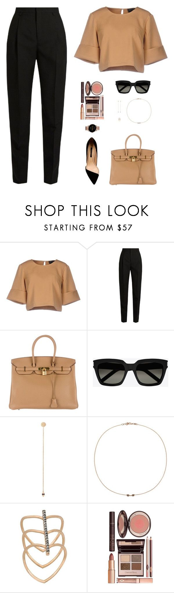 """""""Sin título #4940"""" by mdmsb on Polyvore featuring moda, The Fifth Label, Yves Saint Laurent, Hermès, Jezebel London, Charlotte Tilbury y FOSSIL"""