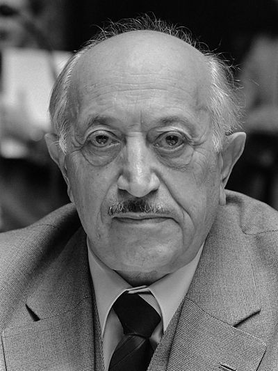 1992 ♦ Simon Wiesenthal (1908 - 2005) was an Austrian writer and Nazi hunter. He was a Jewish Austrian Holocaust survivor who became famous after World War II for his work as a Nazi hunter.