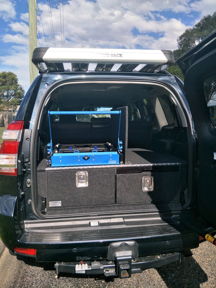 Drawers, MSA drop slide for fridge and dual battery system. Installed by Drifta, Gloucester, NSW.