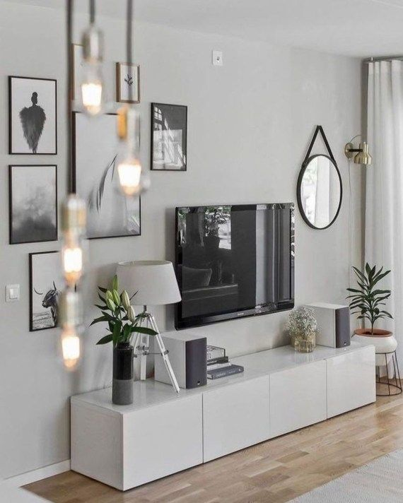 55 Modern Tv Stand Design Ideas For Small Living Room Matchness Com Small Living Room Decor Small Modern Living Room Apartment Living Room