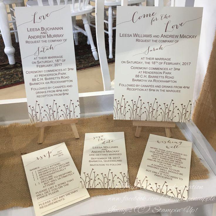Embossed copper invitations.
