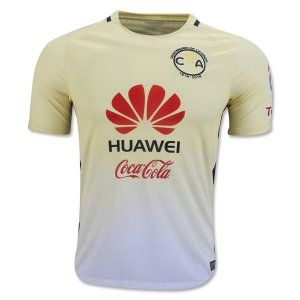 Club America Jersey 2016/17 Season Home Yellow Soccer Shirt [E800]