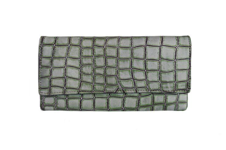 Kopertówka+skórzana+Krokodyl+szary+w+Etui-vintage+na+DaWanda.com