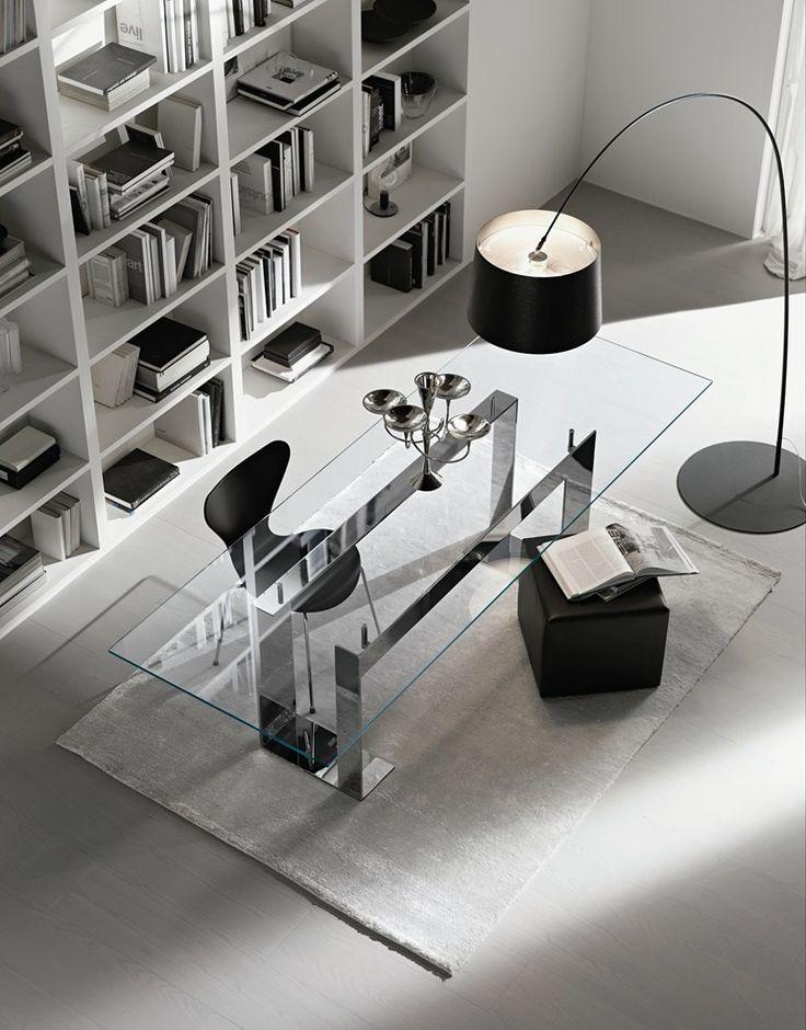 Rectangular Glass Table MILES   @tonellidesign