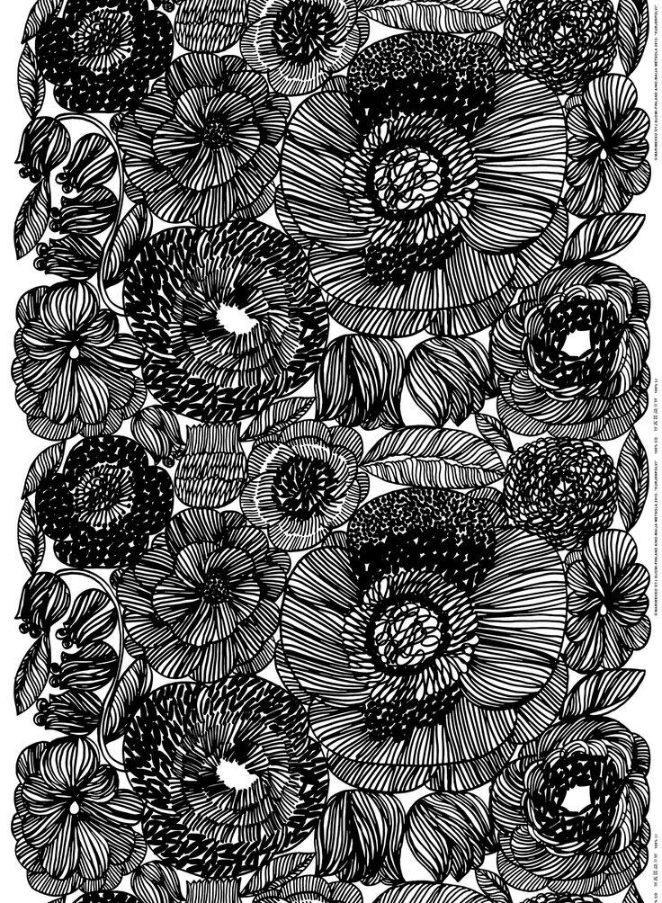 Kurjenpolvi HW cotton fabric by Marimekko