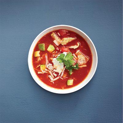 Soupe aux tomates à la mexicaine - Châtelaine