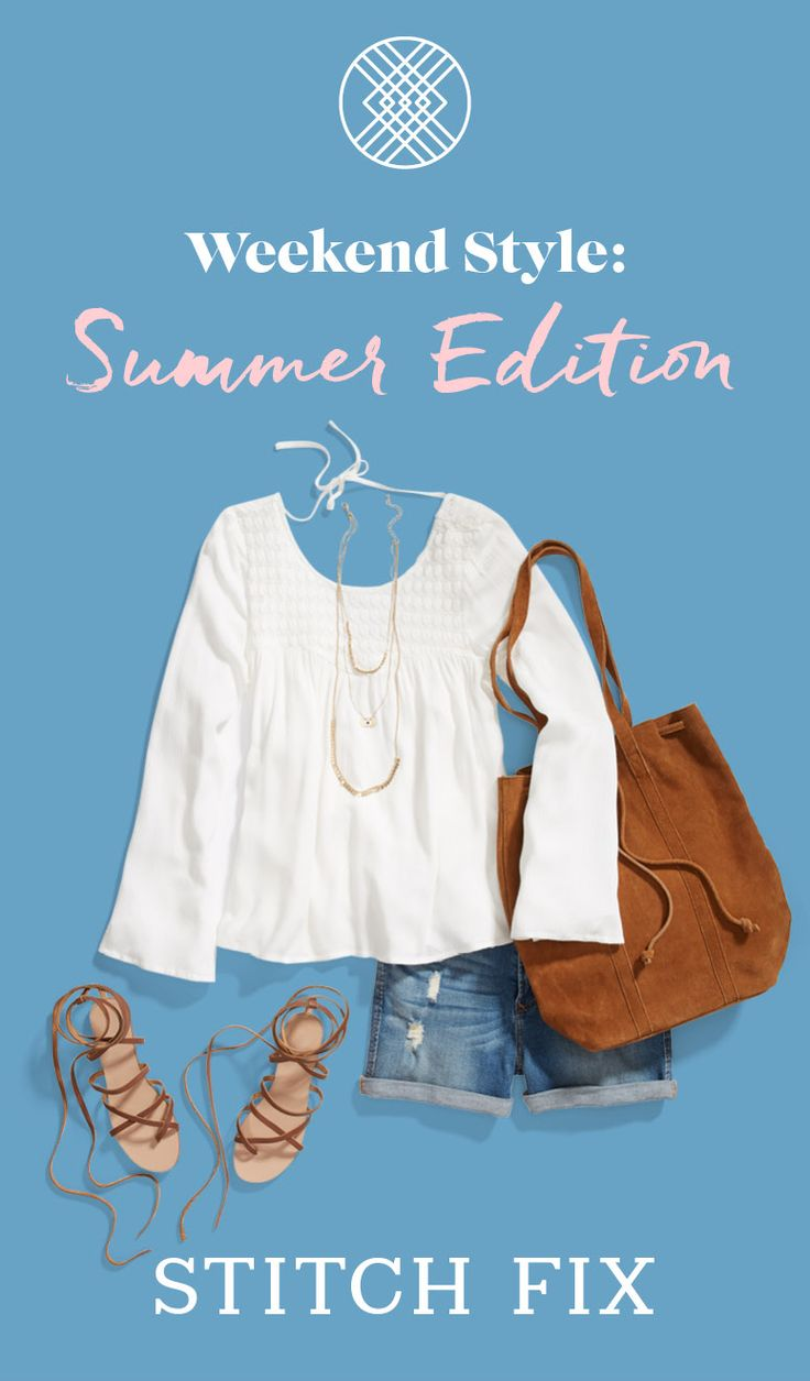 Backyard BBQ? Farmer's market? Brunch with the crew? Try a breezy white top and relaxed, lived-in denim shorts. #StylistTip: Balance a slouchy boho bag with cute, structured sandals for an off-duty look that's super chic. Try out Stitch Fix for a warm-weather wardrobe refresh! Keep what you love, and send the rest back for free.