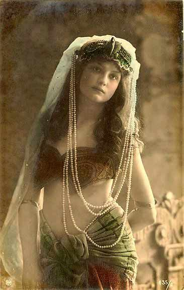 Vintage belly dancer.